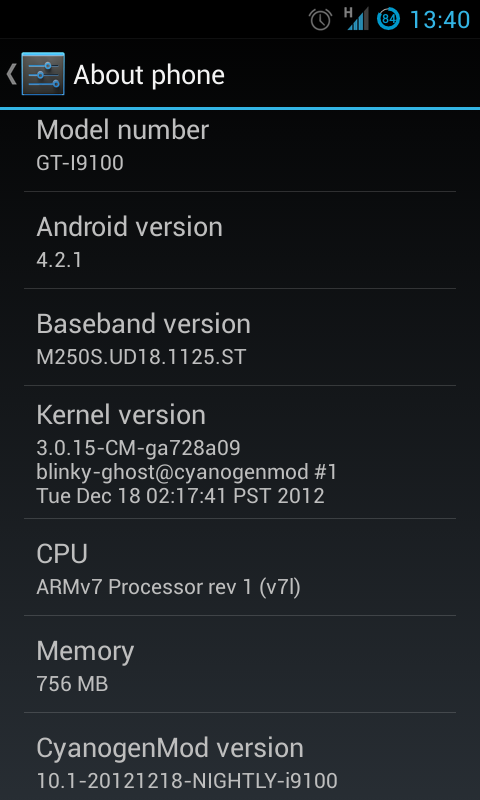 CM10.1 - About Device
