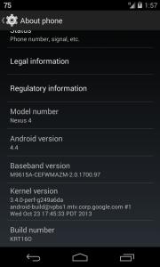 Nexus 4 KitKat